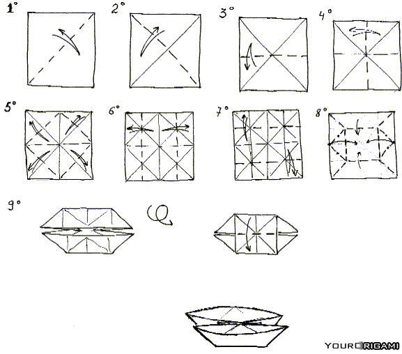 Как собирать схемы оригами